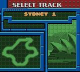 Test Drive 2001 Game Boy Color Select a track