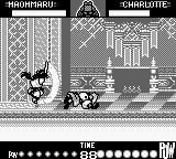 Samurai Shodown Game Boy Charlotte feels the power of Haohmaru's sword!