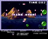 Pang Amiga Egypt - no lives left, game over