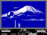 Pang ZX Spectrum Mt Fuji - shoot big balloon to split it into half