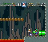 Super Mario All-Stars + Super Mario World SNES In this bug, you have the crazy capacity of spit fishes... It's true!