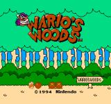 Wario's Woods NES Title screen