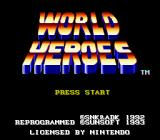 World Heroes SNES Title screen