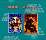 World Heroes SNES Select match mode