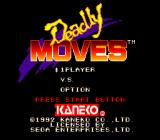 Deadly Moves Genesis Title screen