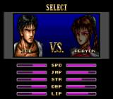 Deadly Moves Genesis One player mode: opponent select