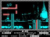 Pang ZX Spectrum Emerald Temple - using ladder to get higher