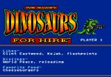Tom Mason's Dinosaurs for Hire Genesis The game has a sense of humor...