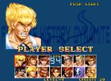 Fighter's History Dynamite Neo Geo Player Selection