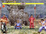 "Fighter's History Dynamite Neo Geo ""Don't you think it's raining too much to fight?"""