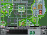 X-COM: Apocalypse DOS Overhead map view of the city.
