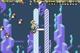 Super Mario World: Super Mario Advance 2 Game Boy Advance Luigi reaches the 1st position in a marathon where, apparently, only fishes participate...