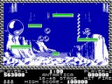 Pang ZX Spectrum Antartica - taking a little rest on some platform