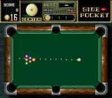 Side Pocket SNES The game begins: try strike many possible balls with one move!