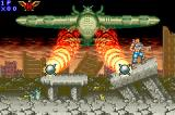 Contra Advance: The Alien Wars EX Game Boy Advance An enemy airplane spear two missiles and tries to make hard your tough mission.