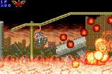 Contra Advance: The Alien Wars EX Game Boy Advance The land in flames shows its fury in form of incandescent and solid magma.