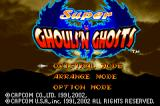 Super Ghouls 'N Ghosts Game Boy Advance Title screen.