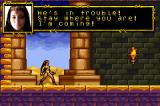 The Scorpion King: Sword of Osiris Game Boy Advance Cassandra goes to the rescue!