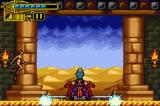 The Scorpion King: Sword of Osiris Game Boy Advance He will attack of diverse forms: in the first one (making this very quaint pose), energy balls will cross the screen in both sides. Jump them and you'll be safe.