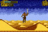 The Scorpion King: Sword of Osiris Game Boy Advance Calm! It isn't snowing in the desert: it's a sand storm in action. It diminishes the walk speed, placing the player move backwards.