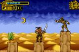 The Scorpion King: Sword of Osiris Game Boy Advance What a worst target! This boomerang shot goes far, far away!