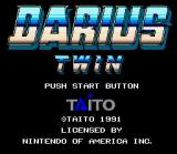 Darius Twin SNES Title screen