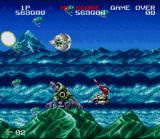 Darius Twin SNES Some missile launchers at the bottom of the screen...