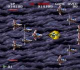 Darius Twin SNES Caught in a swarm of enemies...