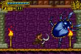 The Scorpion King: Sword of Osiris Game Boy Advance This gigantic beetle is other boss: attack it without mercy!