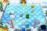 Mario Pinball Land Game Boy Advance A typical ice level: ice puppets, pines, colorful canes... and Shy Guys?