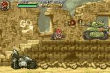 Metal Slug Advance Game Boy Advance Throwing some bombs to destroy the enemy forces.