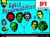 Split Personalities ZX Spectrum Title screen