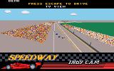 Indianapolis 500: The Simulation DOS TV View