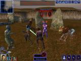 Star Wars: Knights of the Old Republic Windows Fighting a Mandalorian battle group