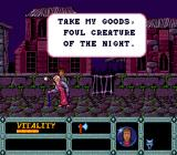 Night Creatures TurboGrafx-16 This old man gives you his trash.