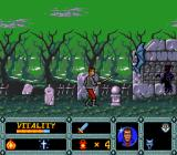 Night Creatures TurboGrafx-16 Grave yard fight.