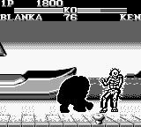 Street Fighter II Game Boy Blanka's electric move: don't go close!