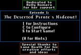 Dangerous Dave in the Deserted Pirate's Hideout! Apple II Main Menu