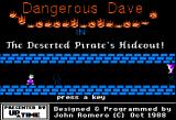 Dangerous Dave in the Deserted Pirate's Hideout! Apple II Title Screen