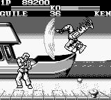 "Street Fighter II Game Boy Guile's Flash Kick ""hitting"" the wind..."