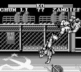 Street Fighter II Game Boy What a powerful kick, man!