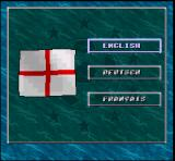 Dino Dini's Soccer SNES Language selection screen