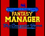 Fantasy Manager: The Computer Game Amiga Title Screen