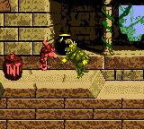 Donkey Kong Country Game Boy Color DK performing a hand slap.