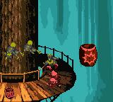 Donkey Kong Country Game Boy Color Diddy (and Donkey too) likes eliminate simultaneous enemies, like this 3 Gnawtys.