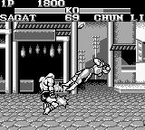 Street Fighter II Game Boy Sagat is ready to attack with the Tiger Knee!
