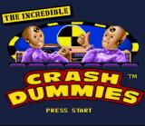 The Incredible Crash Dummies SNES Title