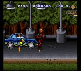 The Incredible Crash Dummies SNES A dummy car is right up Slick's butt