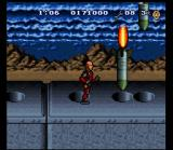 The Incredible Crash Dummies SNES Two rockets going down their holes