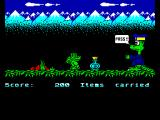 Little Puff in Dragonland ZX Spectrum Large dragon requires four parts of the pass